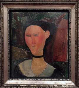 Modigliani: Nainen ja samettinen kaulanauha (1915)