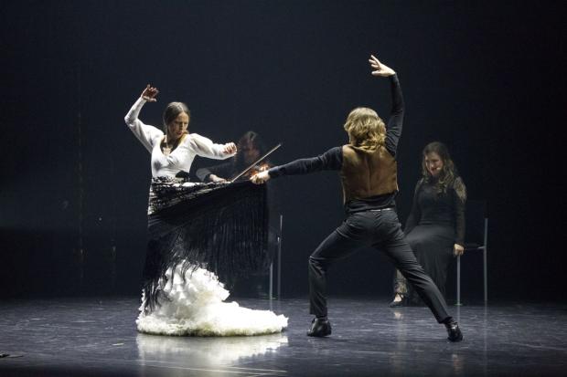 Bailes Robados. Kuvassa Mariana Collado ja Carlos Chamorro. Kuva: Petri Laitinen.