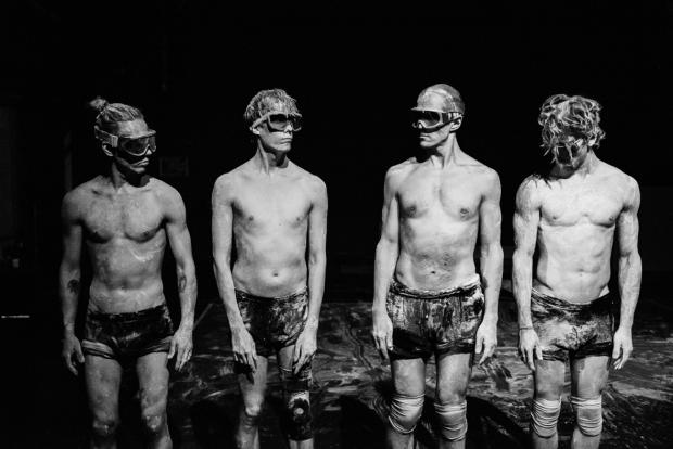 Body Notes. Kuvassa Saska Pulkkinen, Mikael Kuosmanen, Marko Pakarinen, Miro Lopperi. Kuvaaja: Kai Kuusisto.