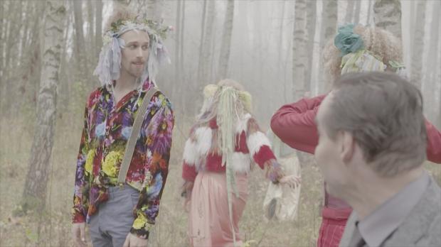 Kohtauksia Goethen Faustista. Etualalla Miro Lopperi ja Hannu Kivioja. Kuva: Jussi Nikkilä.