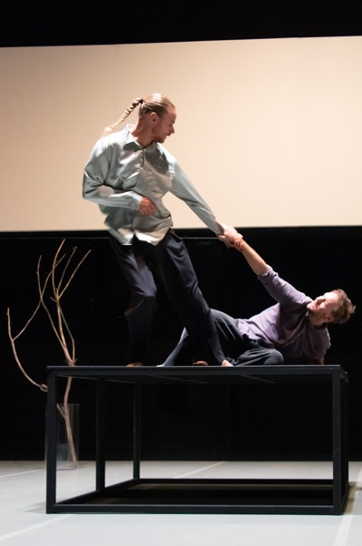 Kaksivärinen fuuga. Kuvassa Pekka Louhio ja Eero Vesterinen. Kuva: Yoshi Omori.